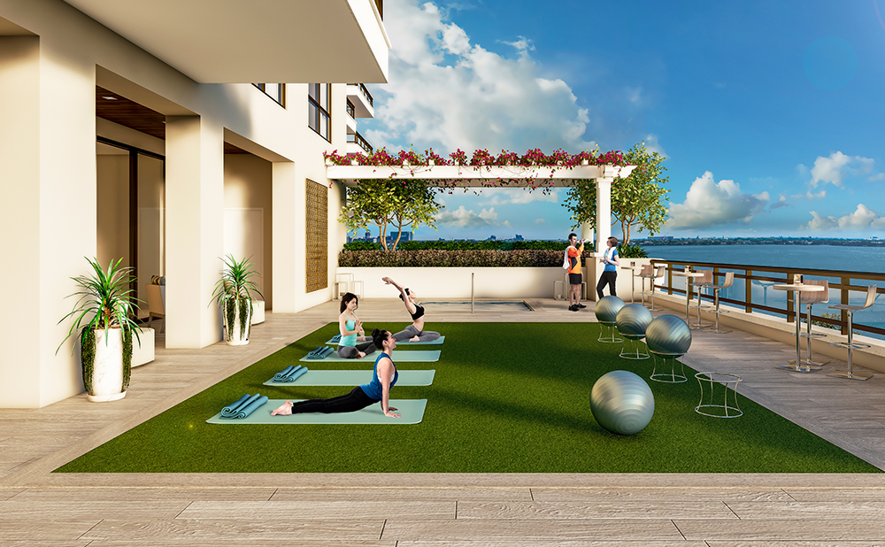 Artist's Rendering of Fitness Green Space