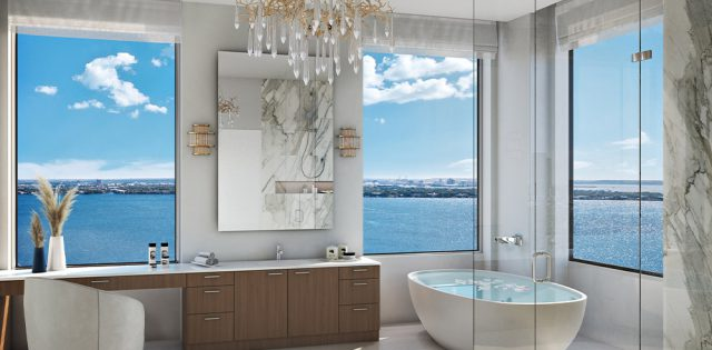 Artists Rendering of The Manor Master Bath