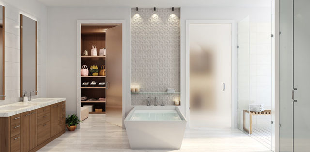 Artist's Rendering of The Desoto Master Bath