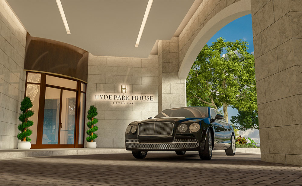 Artist's Rendering of Hyde Park House Porte Cochere
